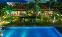 Gardens and Pool at Night - Villa Sayang D'Amour - Seminyak, Bali