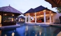 Swimming Pool at Night - Villa Sesari - Seminyak, Bali