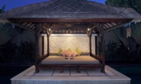 Pool Bale at Night - Villa Sesari - Seminyak, Bali