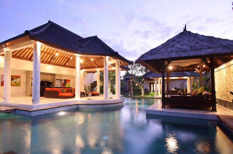 Outdoor Area at Night - Villa Sesari - Seminyak, Bali