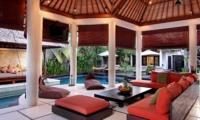 Living Area with Pool View - Villa Sesari - Seminyak, Bali