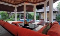 Living Area with Garden View - Villa Sesari - Seminyak, Bali