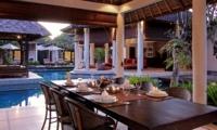 Dining Area with Pool View - Villa Sesari - Seminyak, Bali