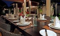 Dining Area at Night - Villa Sesari - Seminyak, Bali