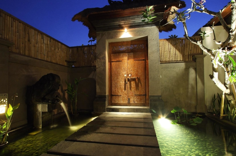 Entrance at Night - Villa Sesari - Seminyak, Bali