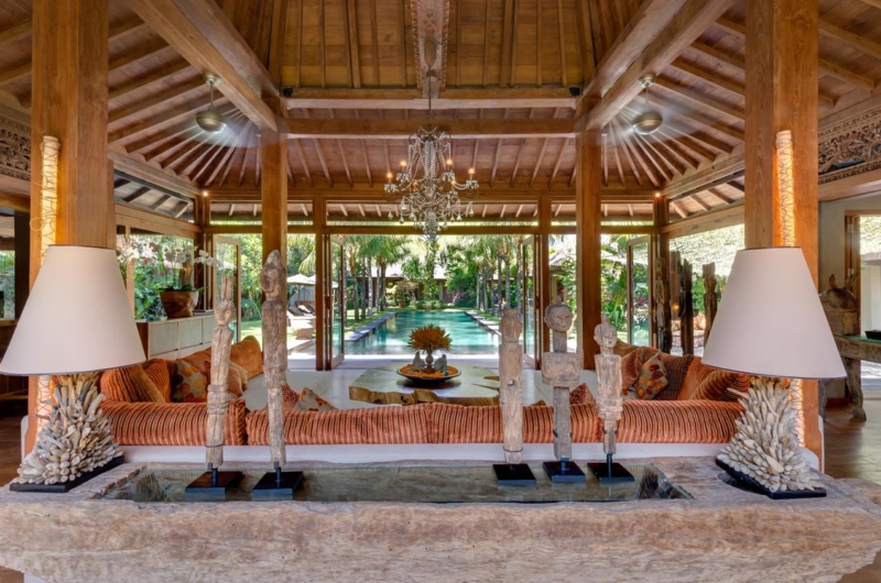 Living Area with Pool View - Villa Shambala - Seminyak, Bali
