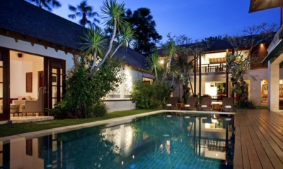 Gardens and Pool at Night - Villa Shinta Dewi - Seminyak, Bali