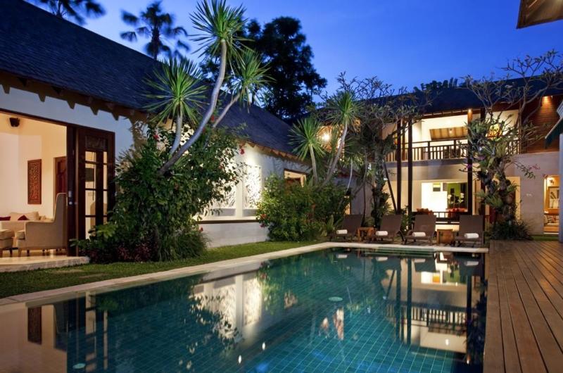 Gardens and Pool at Night - Villa Shinta Dewi - Seminyak, Bali