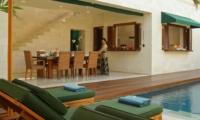 Dining Area with Pool View - Villa Shinta Dewi - Seminyak, Bali