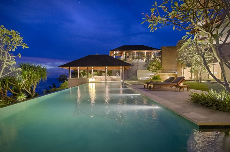 Swimming Pool at Night - Villa Soham - Ungasan, Bali