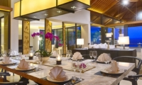 Dining Area with Crockery - Sohamsa Ocean Estate - Ungasan, Bali