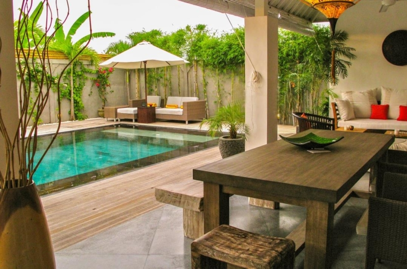 Living and Dining Area with Pool View - Villa Sophia - Seminyak, Bali