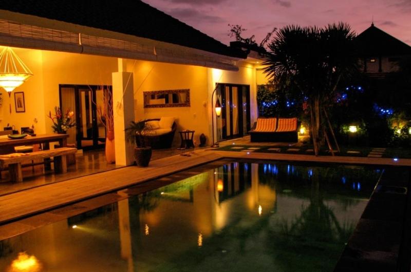 Pool at Night - Villa Sophia - Seminyak, Bali