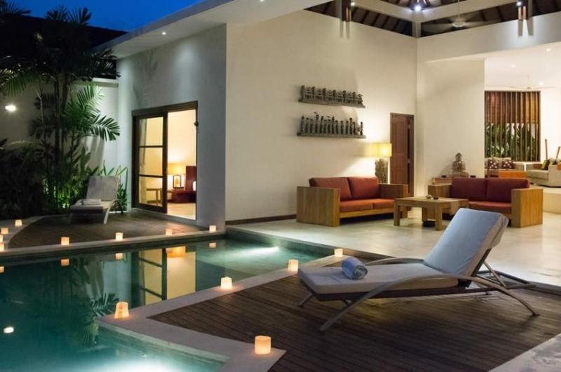 Pool at Night - Villa Suliac - Legian, Bali