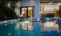 Swimming Pool at Night - Villa Suliac - Legian, Bali
