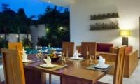 Dining Area at Night - Villa Suliac - Legian, Bali