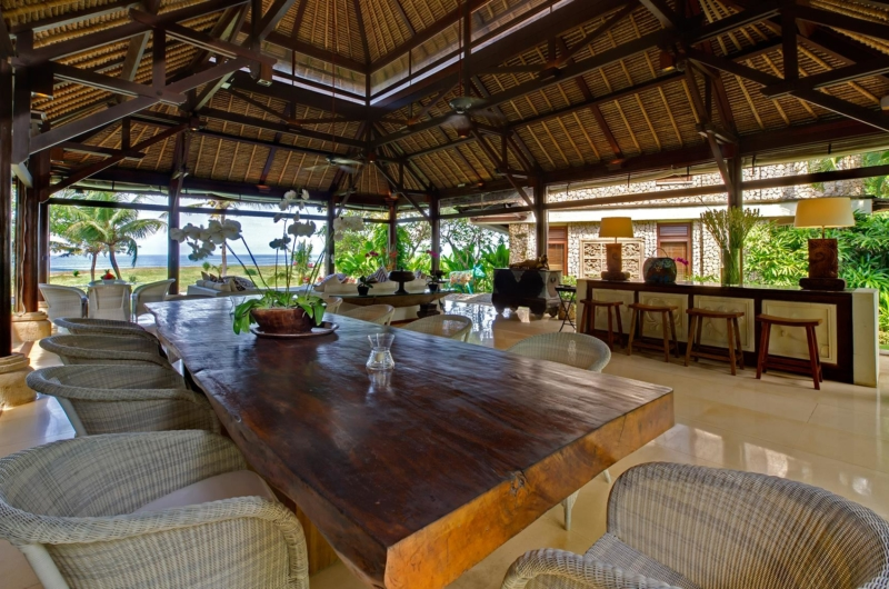 Living and Dining Area with Sea View - Villa Sungai Tinggi - Pererenan, Bali