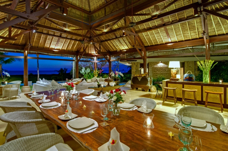 Dining Area at Night - Villa Sungai Tinggi - Pererenan, Bali