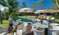 Pool Side Dining - Villa Sungai Tinggi - Pererenan, Bali