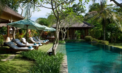 Pool Side Loungers - Villa Surya Damai - Umalas, Bali