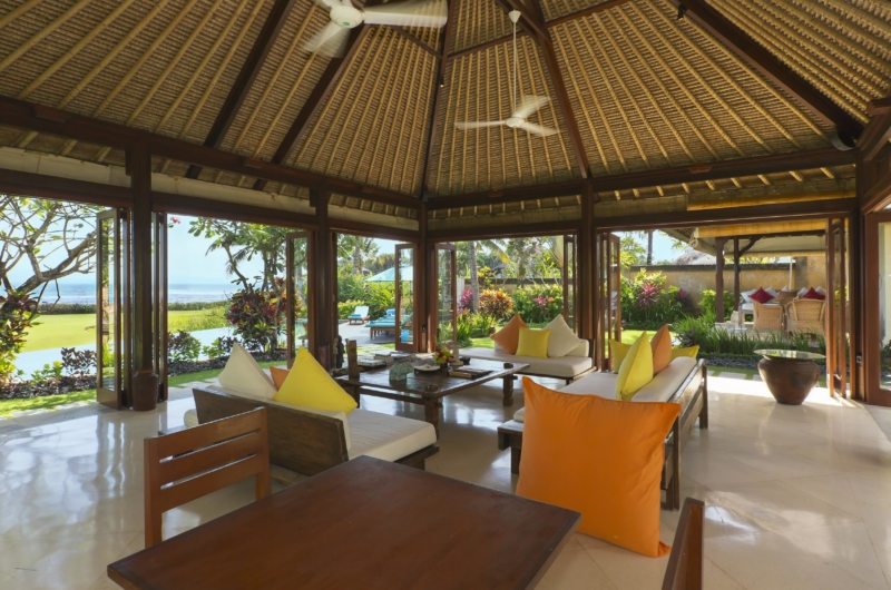 Living and Dining Area with View - Villa Tanju - Seseh, Bali