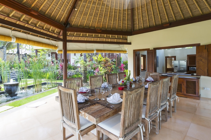 Dining Area with Garden View - Villa Tanju - Seseh, Bali