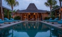 Pool at Night - Villa Taramille - Kerobokan, Bali