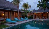 Sun Beds at Night - Villa Taramille - Kerobokan, Bali