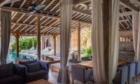 Living Area with Pool View - Villa Taramille - Kerobokan, Bali