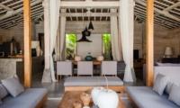 Indoor Living and Dining Area - Villa Taramille - Kerobokan, Bali