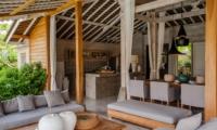Living, Kitchen and Dining Area - Villa Taramille - Kerobokan, Bali