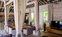 Living and Dining Area with TV - Villa Taramille - Kerobokan, Bali