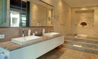 His and Hers Bathroom with Mirror - Villa Teana - Jimbaran, Bali