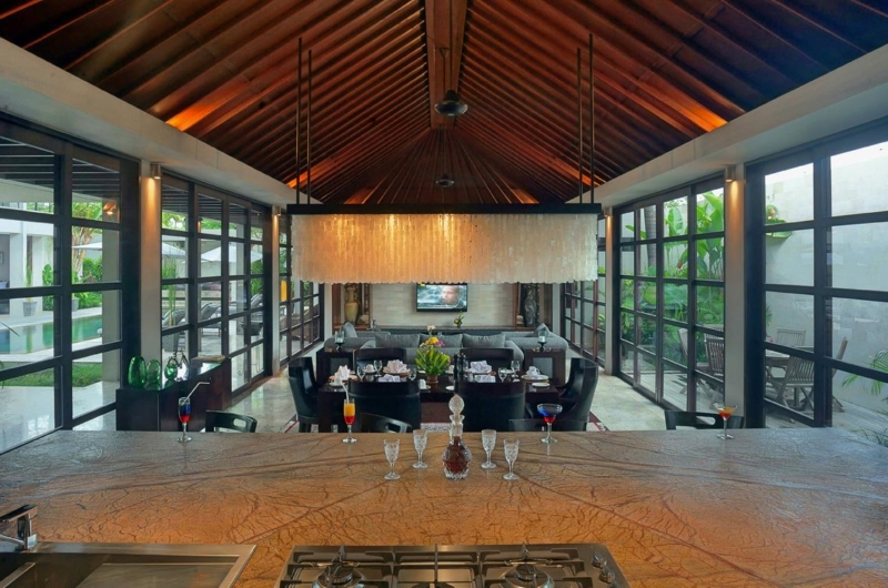 Indoor Living and Dining Area - Villa Teana - Jimbaran, Bali