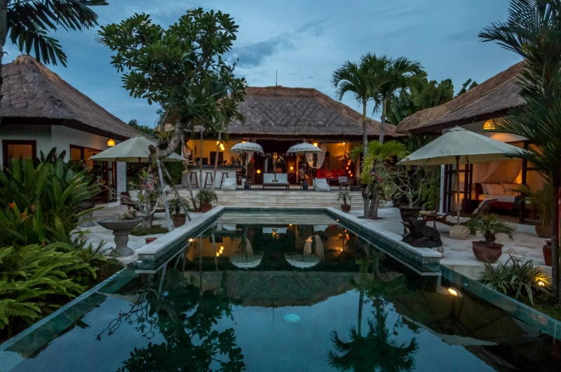 Pool at Night - Villa Tibu Indah - Canggu, Bali