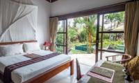 Bedroom with Pool View - Villa Tibu Indah - Canggu, Bali