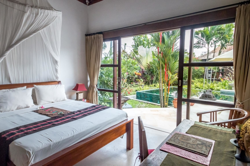 Bedroom with Pool View - Villa Tibu Indah - Canggu, Bali