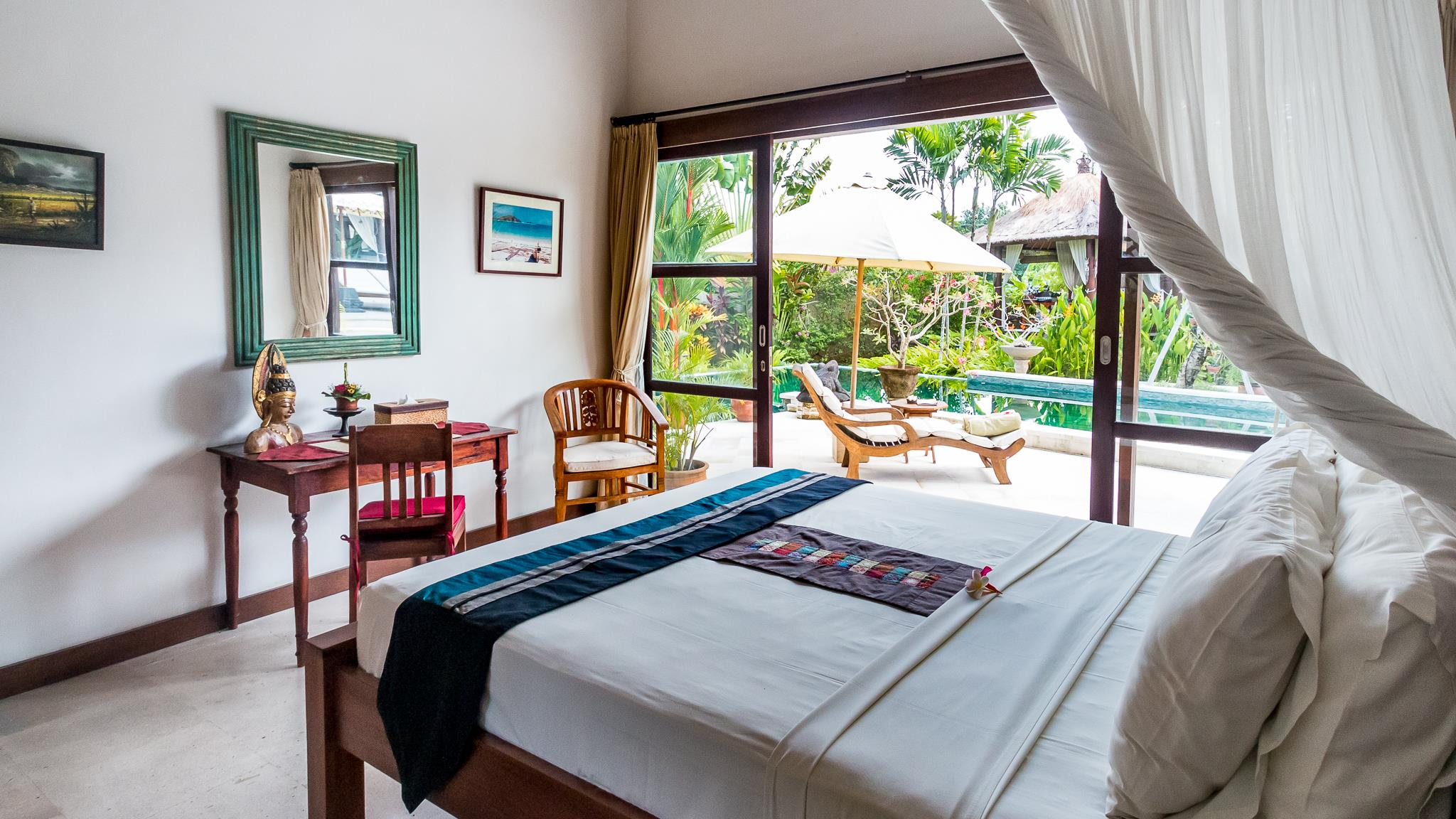 Bedroom with View - Villa Tibu Indah - Canggu, Bali