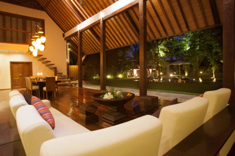 Living Area with Garden View - Villa Tirtadari - Canggu, Bali