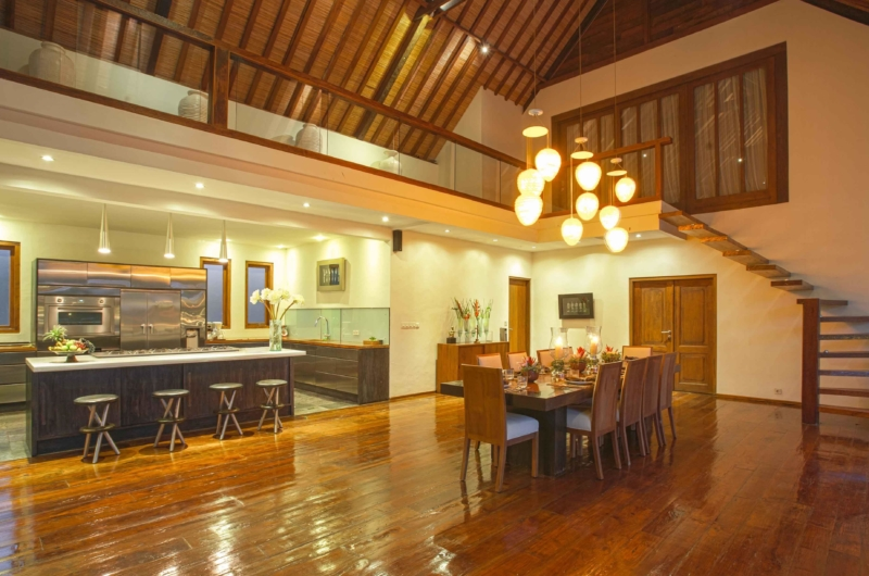 Kitchen and Dining Area - Villa Tirtadari - Canggu, Bali