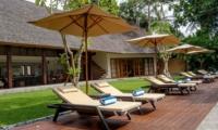 Reclining Sun Loungers - Villa Tirtadari - Canggu, Bali