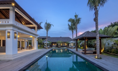 Swimming Pool at Night - Villa Tjitrap - Seminyak, Bali