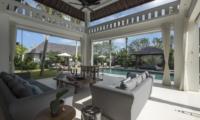 Living Area with Pool View - Villa Tjitrap - Seminyak, Bali