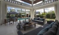 Living Area with Garden View - Villa Tjitrap - Seminyak, Bali