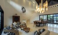 Indoor Living and Dining Area - Villa Tjitrap - Seminyak, Bali