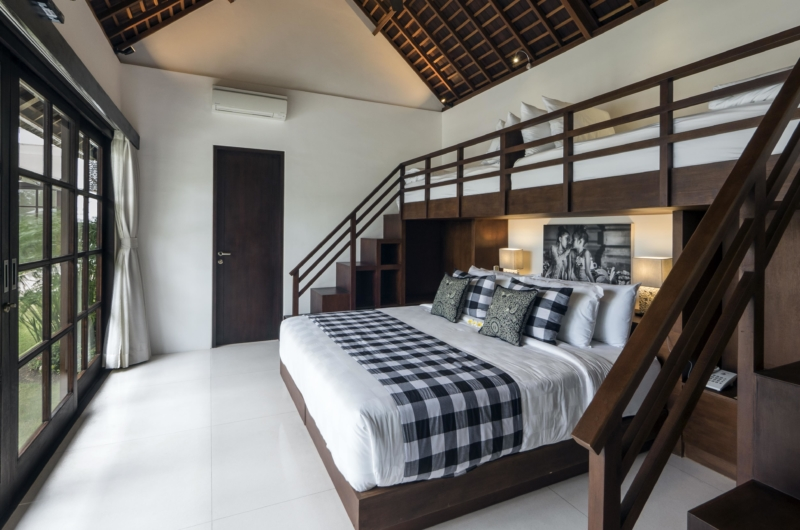 Bedroom with Extra Beds and View - Villa Tjitrap - Seminyak, Bali
