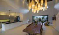 Indoor Kitchen and Dining Area - Villa Tjitrap - Seminyak, Bali