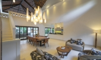 Indoor Living and Dining Area with Up Stairs - Villa Tjitrap - Seminyak, Bali