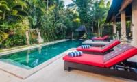 Pool Side Loungers - Villa Tresna - Seminyak, Bali