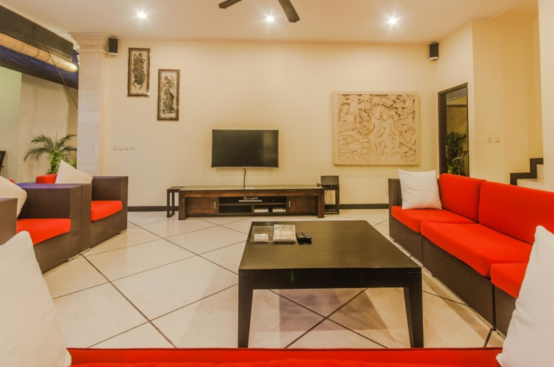 Lounge Area with TV - Villa Tresna - Seminyak, Bali